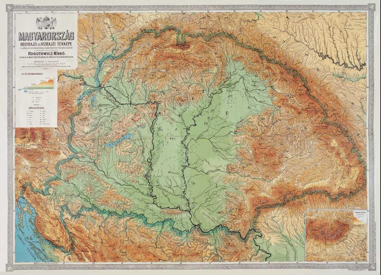 nagy magyarország domborzati térkép ramszakadek   nagy magyarország domborzati térkép